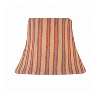 Accessories Woven Stripe Red Chandelier Shade