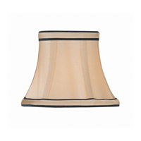 Lite Source Accessories Chandelier Shade in Light Gold with Black Trim CH5195-5