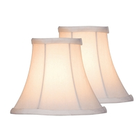 Lite Source CH526-6/2PK Signature White Bell Candelabra Shade