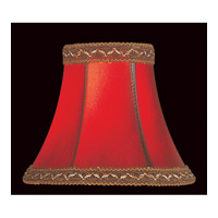 Lite Source Accessories Chandelier Shade in Red Faux Leather CH534-6