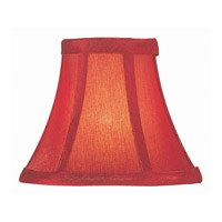 Accessories Red Silk Chandelier Shade