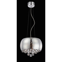Lite Source Othello 8 Light Pendant in Smoke Mirrored Glass with Crystal EL-10064