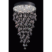 Lite Source EL-10070 Girolamo 7 Light 20 inch Chrome and Clear Chandelier Ceiling Light photo thumbnail