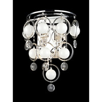 Lite Source Bubbles 6 Light Sconce in Chrome with Crystal EL-10077