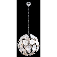 Lite Source Daisy 7 Light Chandelier in Chrome with Flower EL-10089