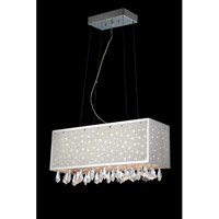 Lite Source EL-10093 Santuzza LED 24 inch Polished Chrome and Clear Chandelier Ceiling Light