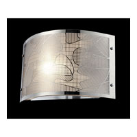 Lite Source Meo 1 Light Sconce with Chrome Laser Cut Metal Shade EL-10097
