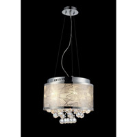 Lite Source Meo 9 Light Pendant in Chrome with Crystal with Crystal EL-10098