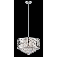 Lite Source Benedetta 4 Light Pendant in Chrome with Crystal EL-10101