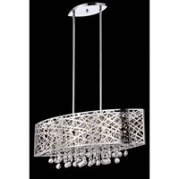 Lite Source Benedetta 5 Light Pendant in Chrome with Crystal EL-10103