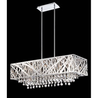 Lite Source Benedetta 10 Light Pendant in Chrome with Crystal EL-10104