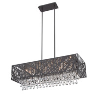 Lite Source Benedetta 10 Light Pendant in Espresso EL-10104ESP