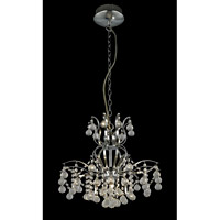 Epiphany 9 Light 18 inch Chrome and Clear Chandelier Ceiling Light
