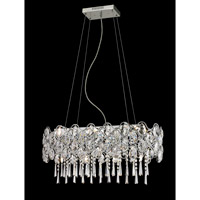 Lite Source Cashlin 10 Light Pendant in Chrome EL-10110