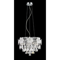 Lite Source Daisy 6 Light Pendant in Chrome EL-10112