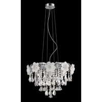 Lite Source EL-10113 Daisy 8 Light 18 inch Chrome Pendant Ceiling Light