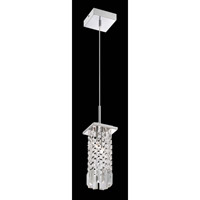 Lite Source Helaine 2 Light Flush Mount in Chrome with Crystal with Crystal EL-10116