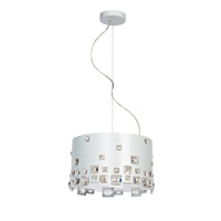 Lite Source EL-10134 Isabella 3 Light 14 inch White Pendant Ceiling Light