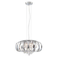 Lite Source EL-10137 Creola 5 Light 16 inch Chrome and Clear Pendant Ceiling Light