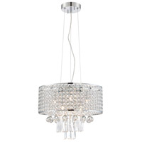 Lite Source EL-10140 Mckayla 6 Light 15 inch Chrome and Clear Chandelier Ceiling Light