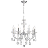 Lite Source EL-10146 Theophilia 8 Light 25 inch Chrome and Clear Chandelier Ceiling Light