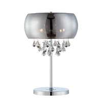 Lite Source Signature 4 Light Table Lamp in Glossy Chrome EL-30064
