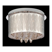 Giustina 9 Light 18 inch Chrome with Crystal Flush Mount Ceiling Light