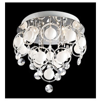 Lite Source Bubbles 9 Light Flush Mount in Chrome with Crystal EL-50077