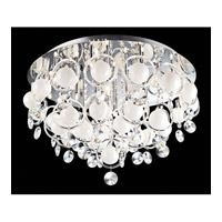 Lite Source Bubbles 18 Light Flush Mount in Chrome with Crystal EL-50078