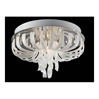 Lite Source Ribbon 12 Light Flush Mount in Chrome with Frost Glass EL-50080