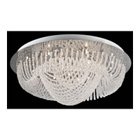 Lite Source Orella 18 Light Flush Mount in Chrome with Crystal EL-50085