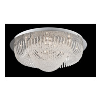 Orella 24 Light 32 inch Chrome and Clear Flush Mount Ceiling Light