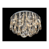 Lite Source Pasquale 15 Light Flush Mount in Chrome with Crystal EL-50090