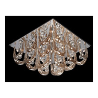 Lite Source Pasquale 16 Light Flush Mount in Chrome with Crystal EL-50091