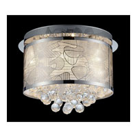 Lite Source Meo 9 Light Flush Mount in Chrome with Crystal with Crystal EL-50098