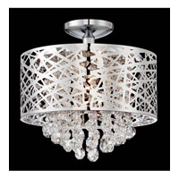 Lite Source Benedetta 4 Light Semi-Flush Mount in Chrome with Crystal EL-50100
