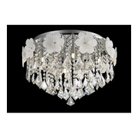Lite Source Daisy 8 Light Flush Mount in Chrome EL-50113