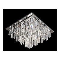 Lite Source Helanie 9 Light Flush Mount in Chrome with Crystal with Crystal EL-50115