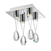 Lite Source Jacquelyne 4 Light Flush Mount in Chrome EL-50130