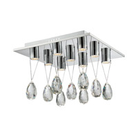 Lite Source Jacquelyne 9 Light Flush Mount in Chrome EL-50131