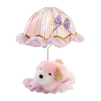 Lite Source IK-6090PINK Puppy 18 inch 40 watt Pink Dog Table Lamp Portable Light