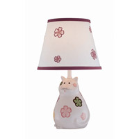 Lite Source Meow 1 Light CFL Table Lamp in Kitty Ceramic with Fabric Shade IK-6093