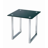 Lite Source Dane Furniture Table in Chrome and Black Glass LDK-6140C/BLK