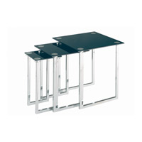 Lite Source Dane Furniture Table in Chrome and Black Glass LDK-6150C/BLK