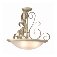 Variance 3 Light 16 inch Pearl Semi-Flush Mount Ceiling Light