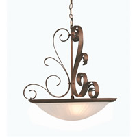 Variance 3 Light 20 inch Brick Pendant Ceiling Light