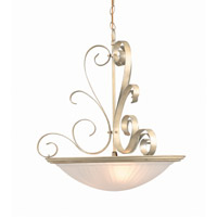 Lite Source LS-1053PEARL Variance 3 Light 20 inch Pearl Pendant Ceiling Light