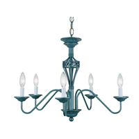 Lite Source Crown 5 Light Chandelier in Verde LS-1058A/VERD