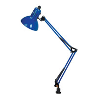 Lite Source Swing-arm 1 Light Clamp-on Lamp in Blue LS-105BLU