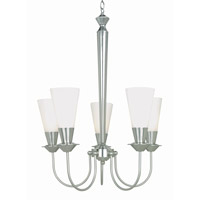 Lite Source Monarch 5 Light Chandelier in Polished Steel with Frost LS-10925PS/FRO